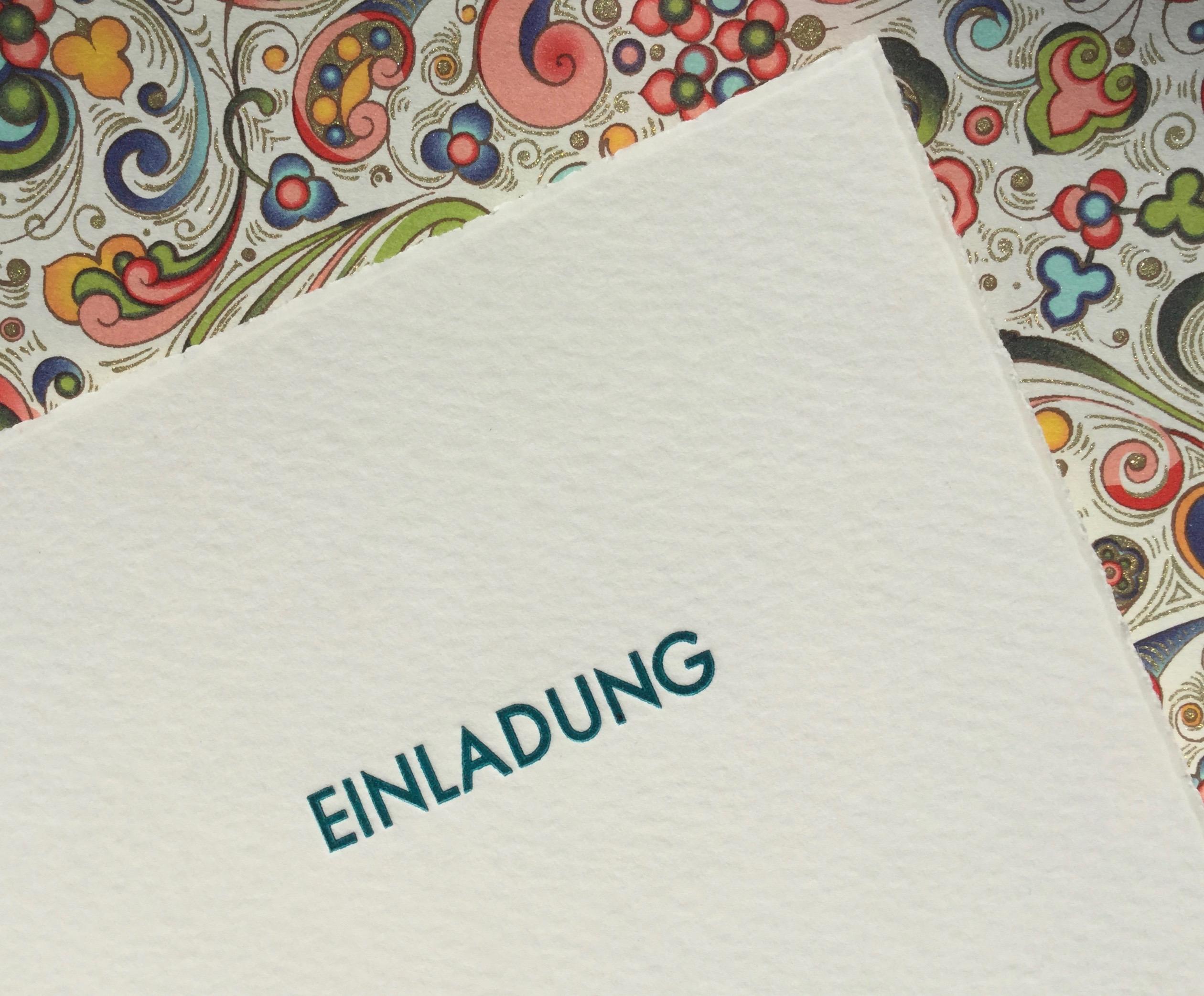 Letterpress Florentinische Einladung