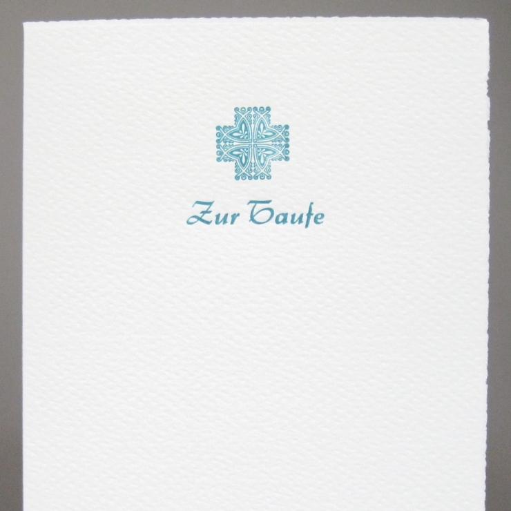 Letterpress Zur Taufe