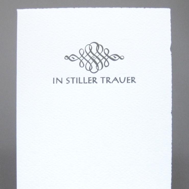 Letterpress In Stiller Trauer