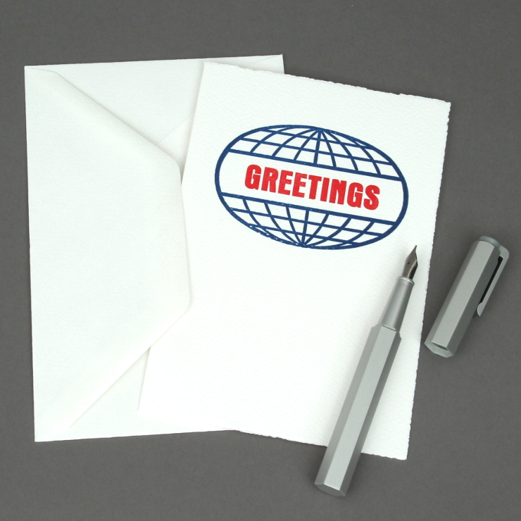 Letterpress Welt Greetings