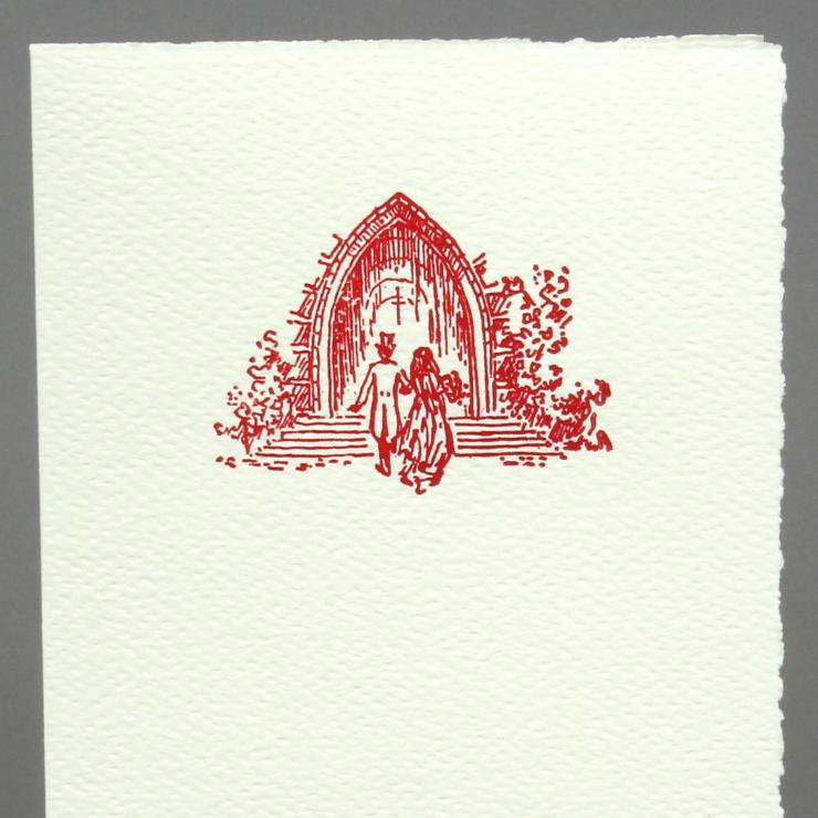 Letterpress Kirche Retro