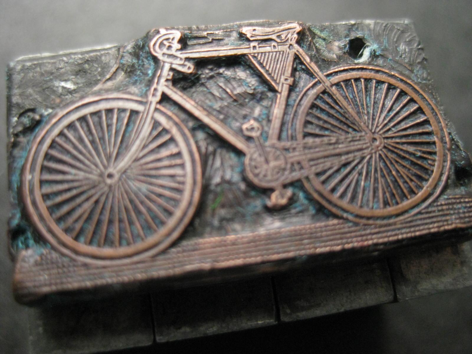 Fahrrad Druckplatte