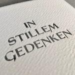 Letterpress In Stillem Gedenken