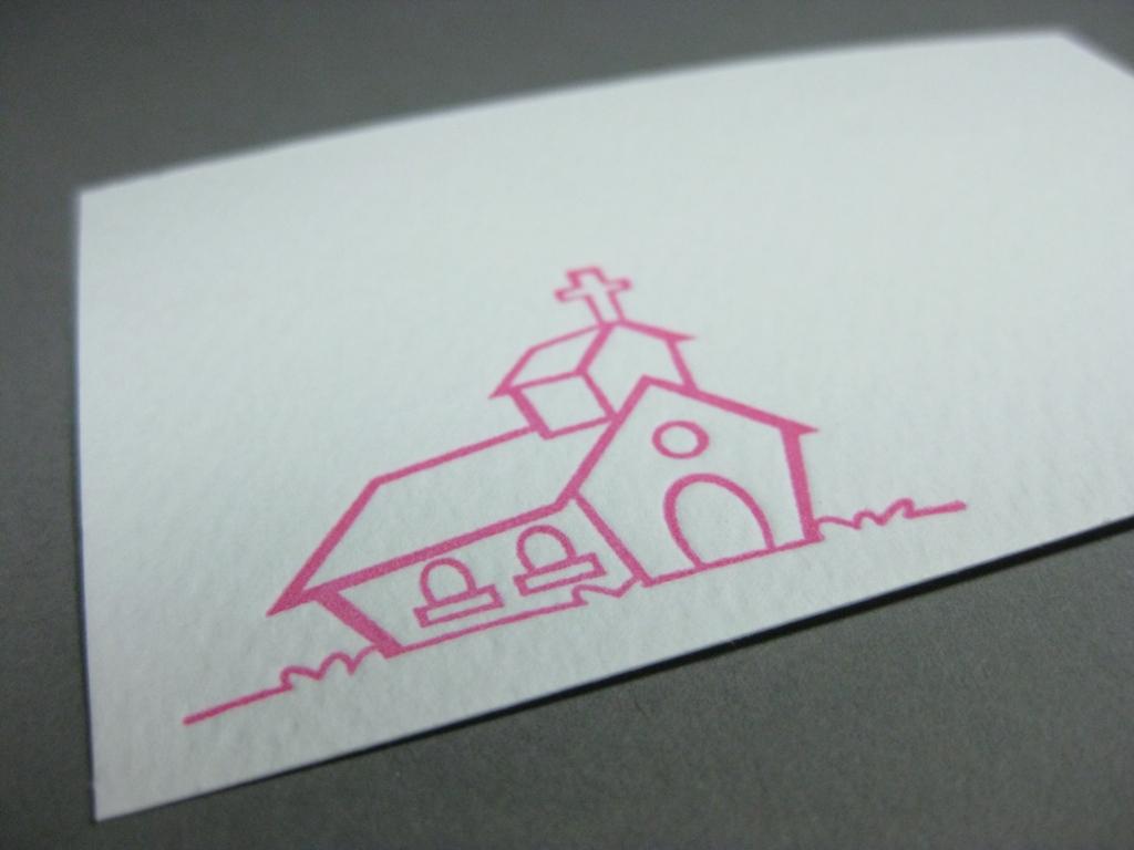 Letterpress Kirche