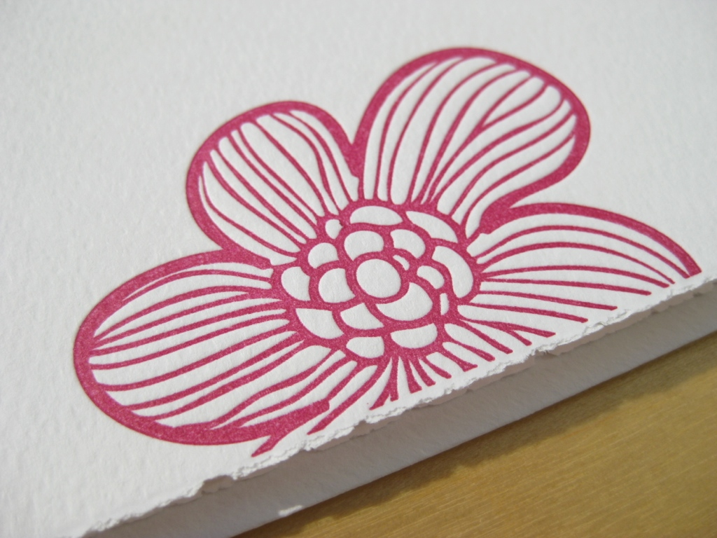 Letterpress Poppy