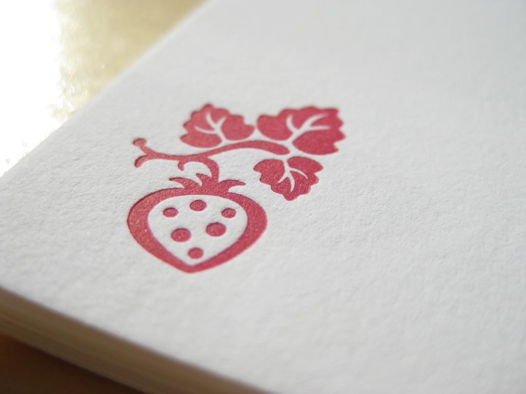 Letterpress Erdbeere