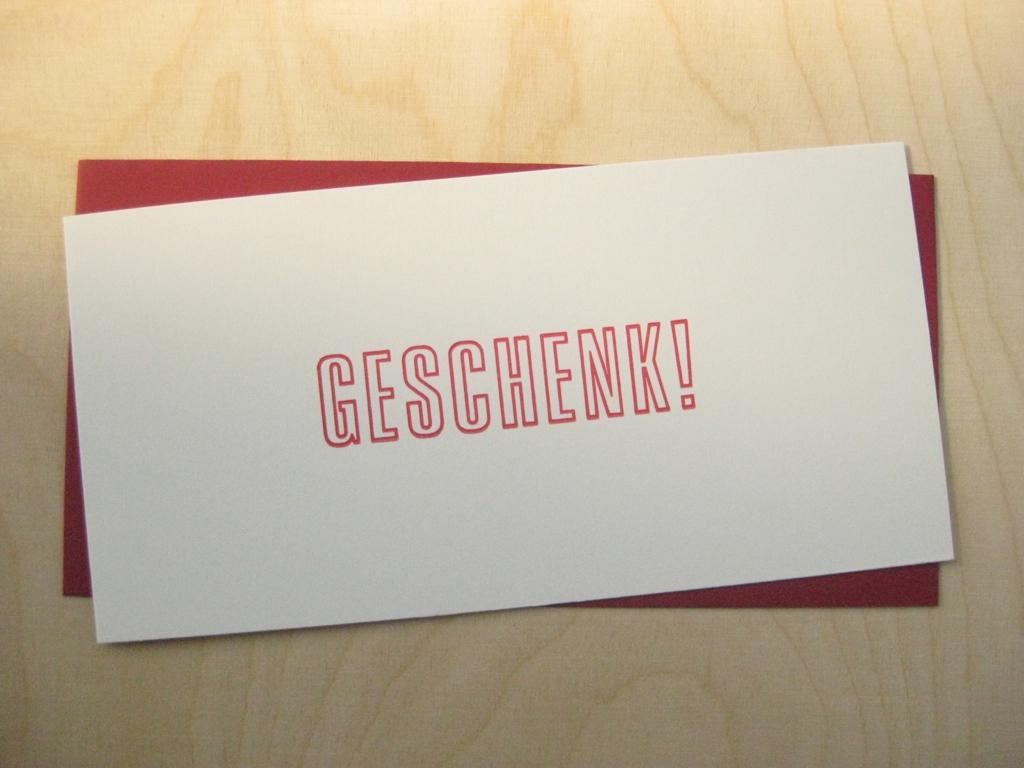 Letterpress Geschenk