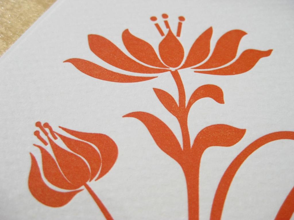 Letterpress Bela Blume