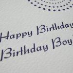 Letterpress Happy Birthday
