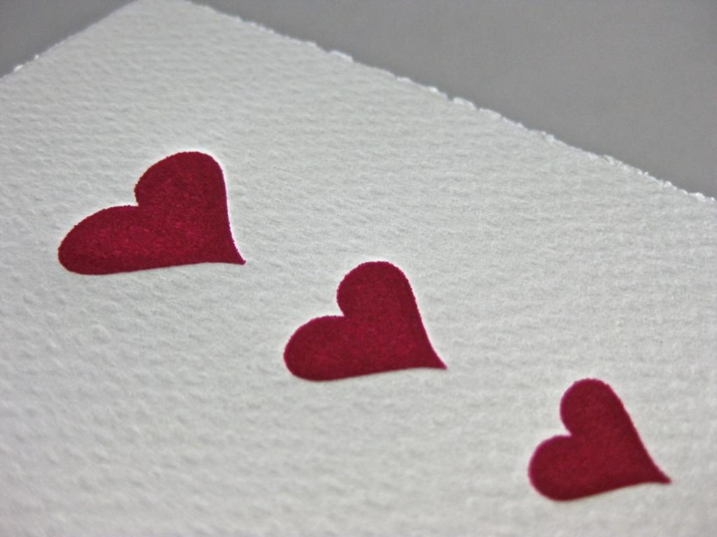 Letterpress Herzen
