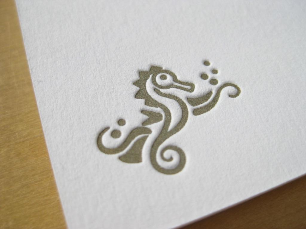 Letterpress Seepferd
