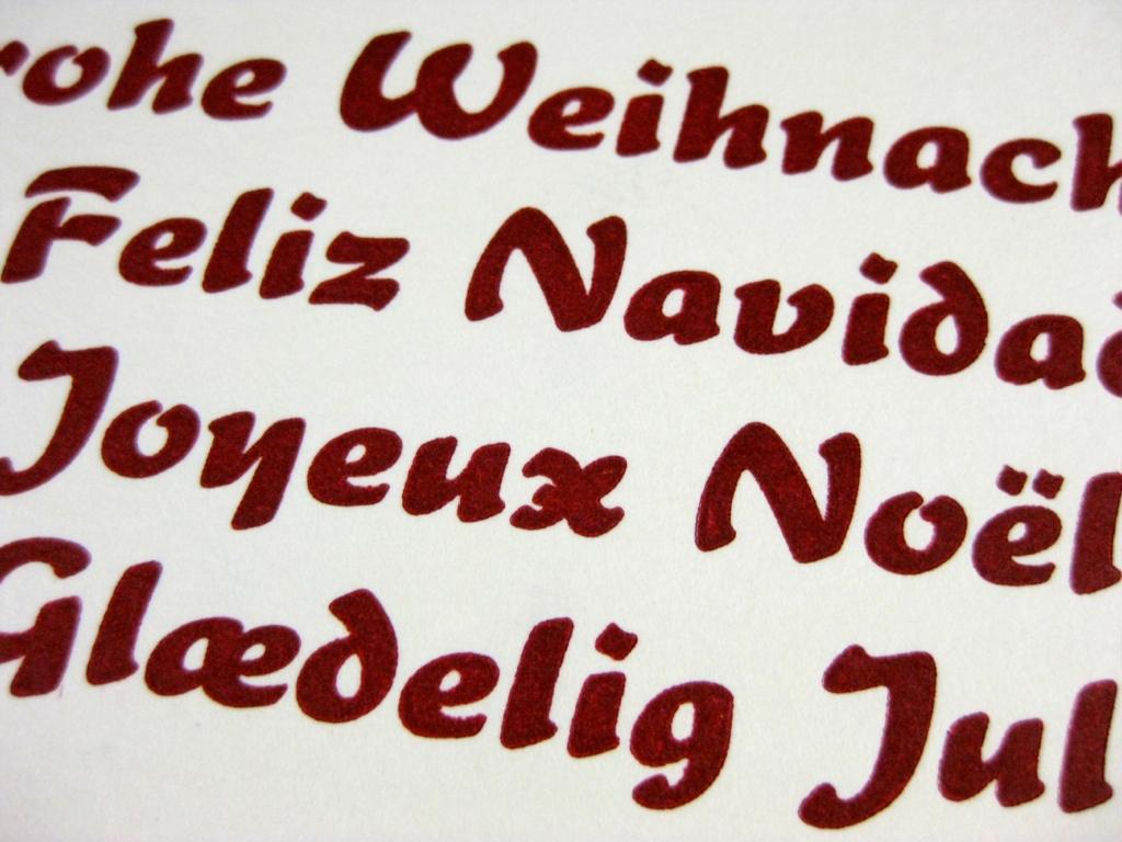 Letterpress Weihnachtsgruesse