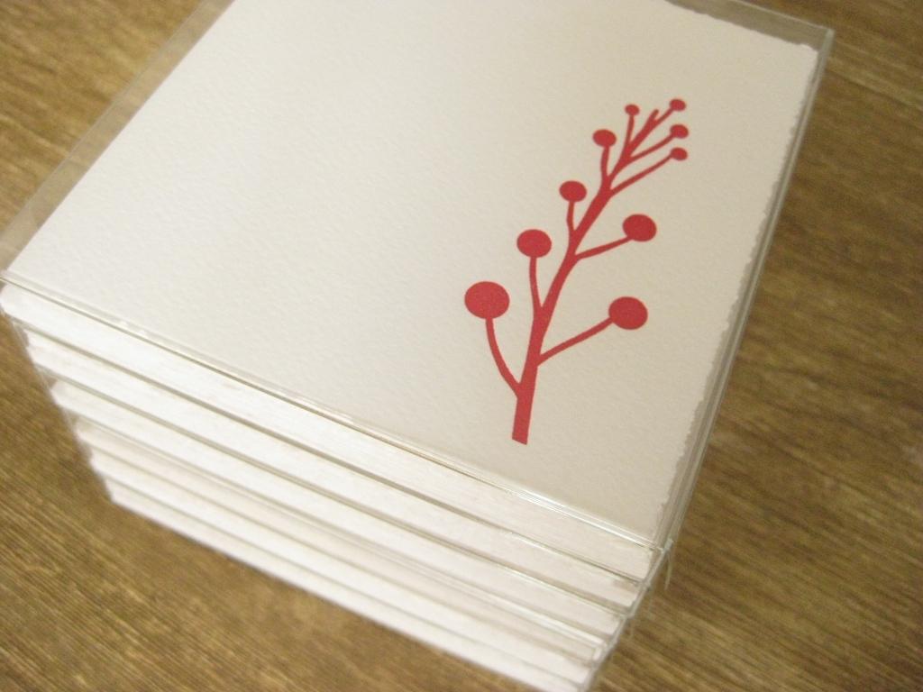 Letterpress Weihnachten Beeren