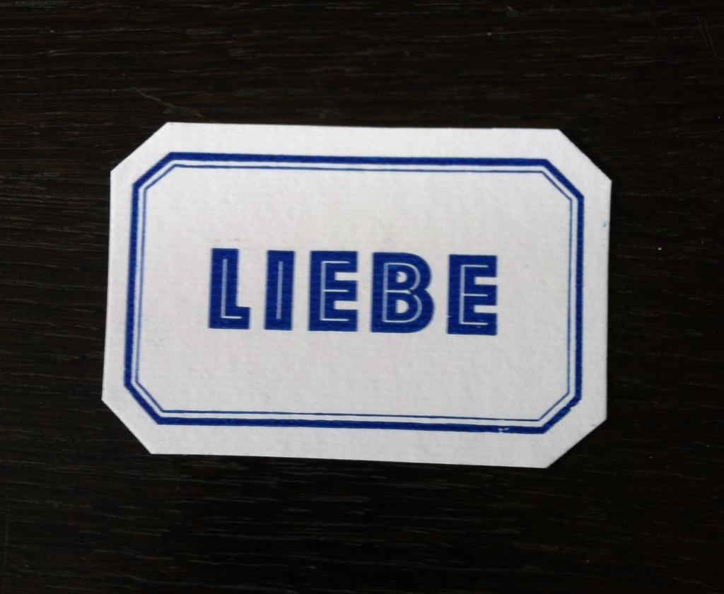 Letterpress Liebe