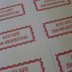 Letterpress Alles Gute zum Hochzeitstag