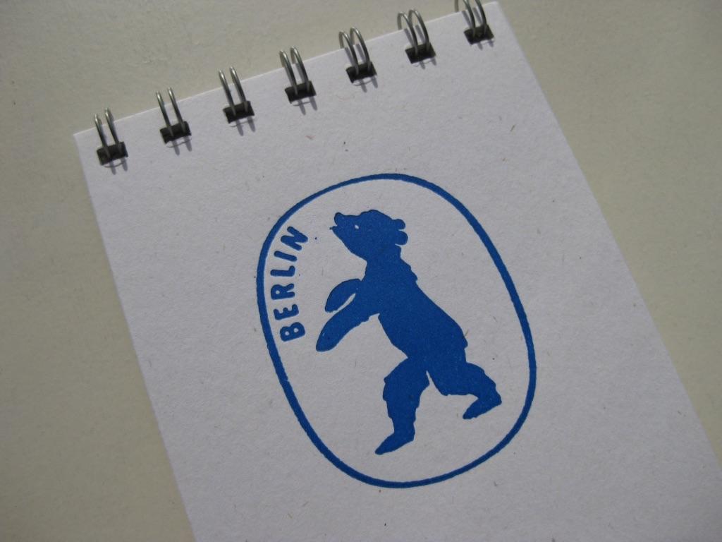 Letterpress Berlin Bear