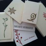Letterpress Weihnachten