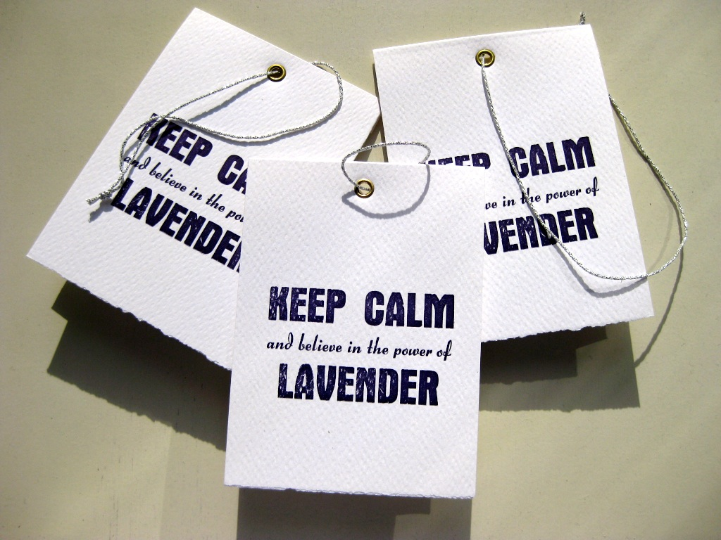 Letterpress Keep Calm