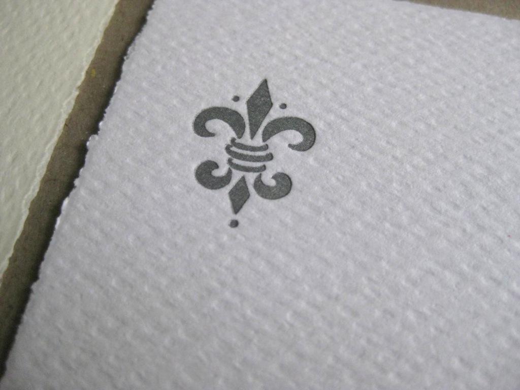 Letterpress Fleur de Lis