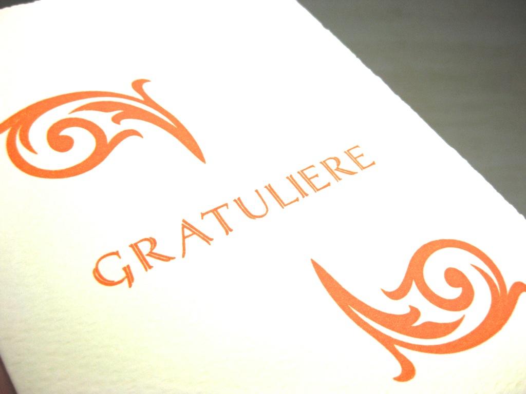 Letterpress Gratuliere